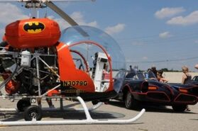 Batcopter with Batmobile