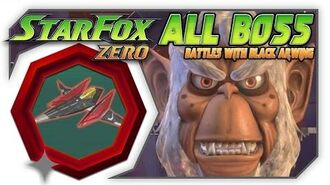 Star Fox Zero - All Boss Battles With The Black Arwing! Wii U Gameplay With GamePad