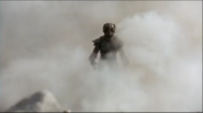 Kull Warrior walking through smoke