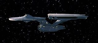 USS Enterprise-A refit, profile view