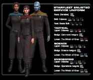 SF enlisted service uniform