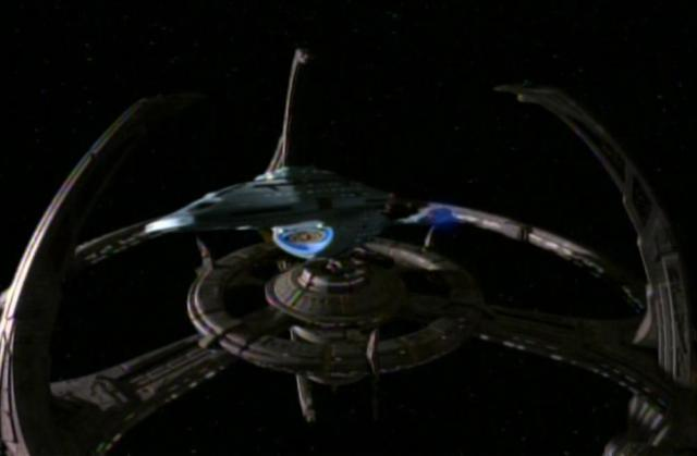File:USS Voyager departing Deep Space 9.jpg
