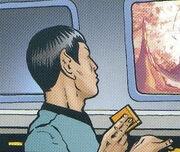 Spock data card IDW Comics