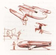 Jefferies shuttlecraft sketches