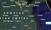 Romulan space starchart