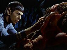 Spock melding with Horta