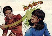 Kira punches maura Malibu