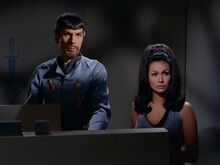 Mirror Spock and Marlena
