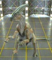 Hadrosaur hologram