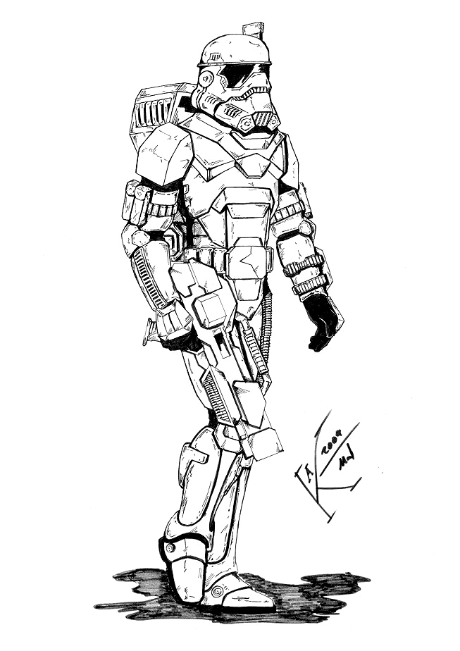 Crimson Empire Hazard Trooper Star Wars Exodus Visual