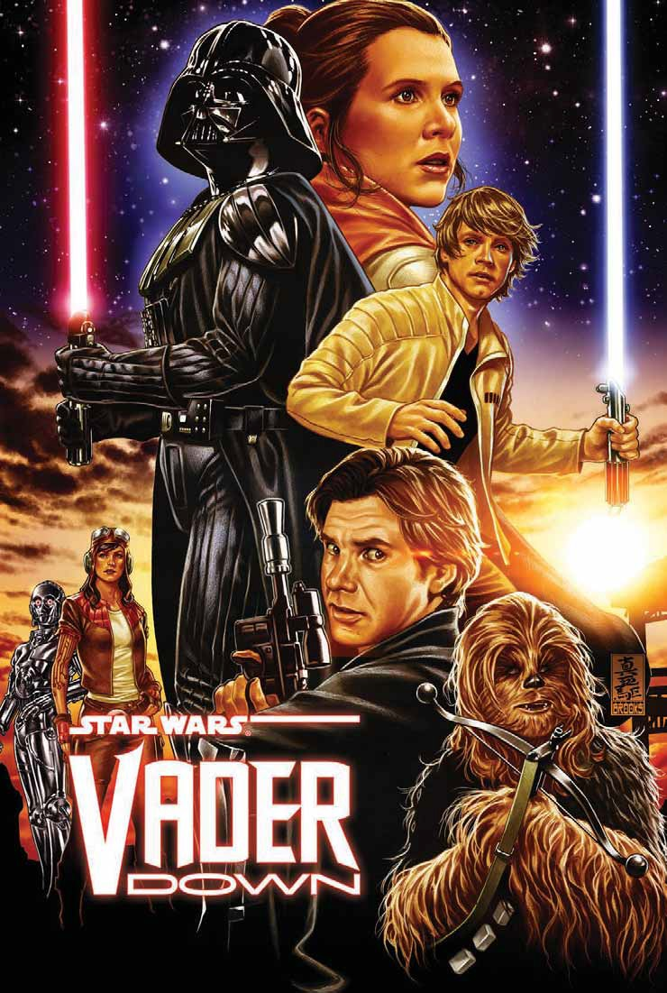 Image result for star wars vader down
