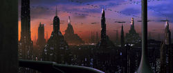 Coruscant apartment view