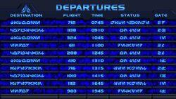 Star-Tours Departures Aurebesh