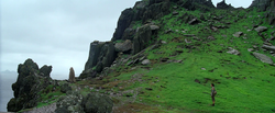 Luke and Rey on Ahch-To