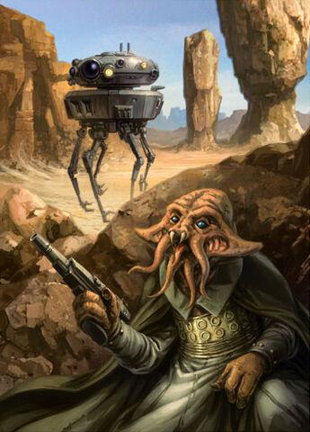 File:Viper probe droid and Quarren.jpg
