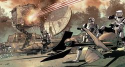 Endor base assault begins
