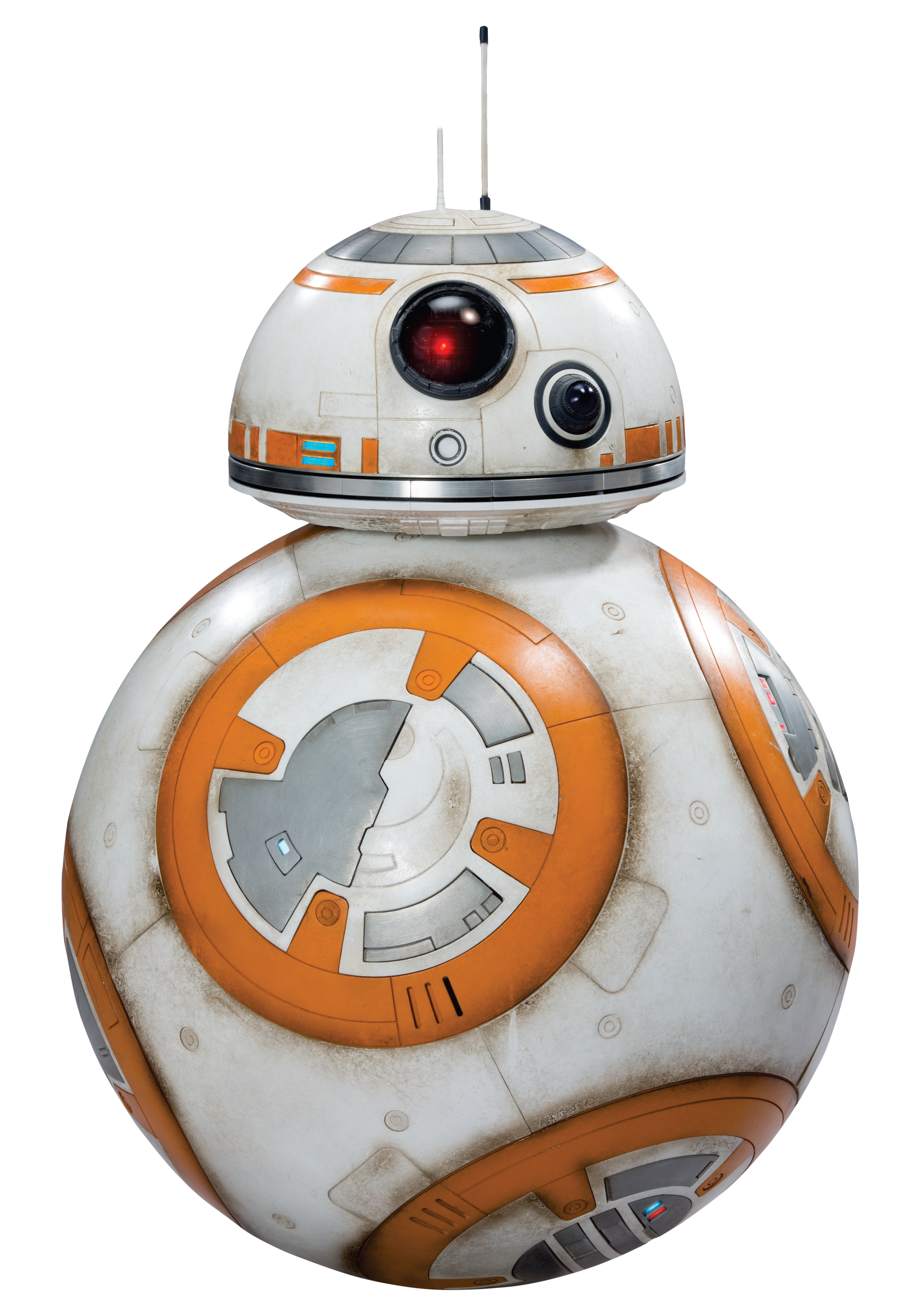 a robot with a spherical body and a smaller hemisphere for a head it is first appearance star wars the force awakens
