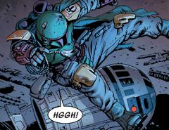 Fett trips over R2