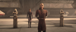 Jedi guards at rally