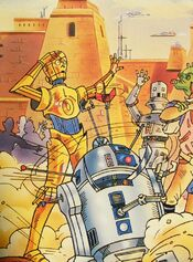 R2-D2 and C-3PO art