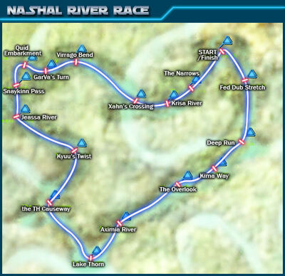 Nashal River Race map
