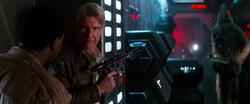 Han Solo and Finn on Starkiller Base