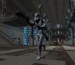 Trooper in the Jedi Archives