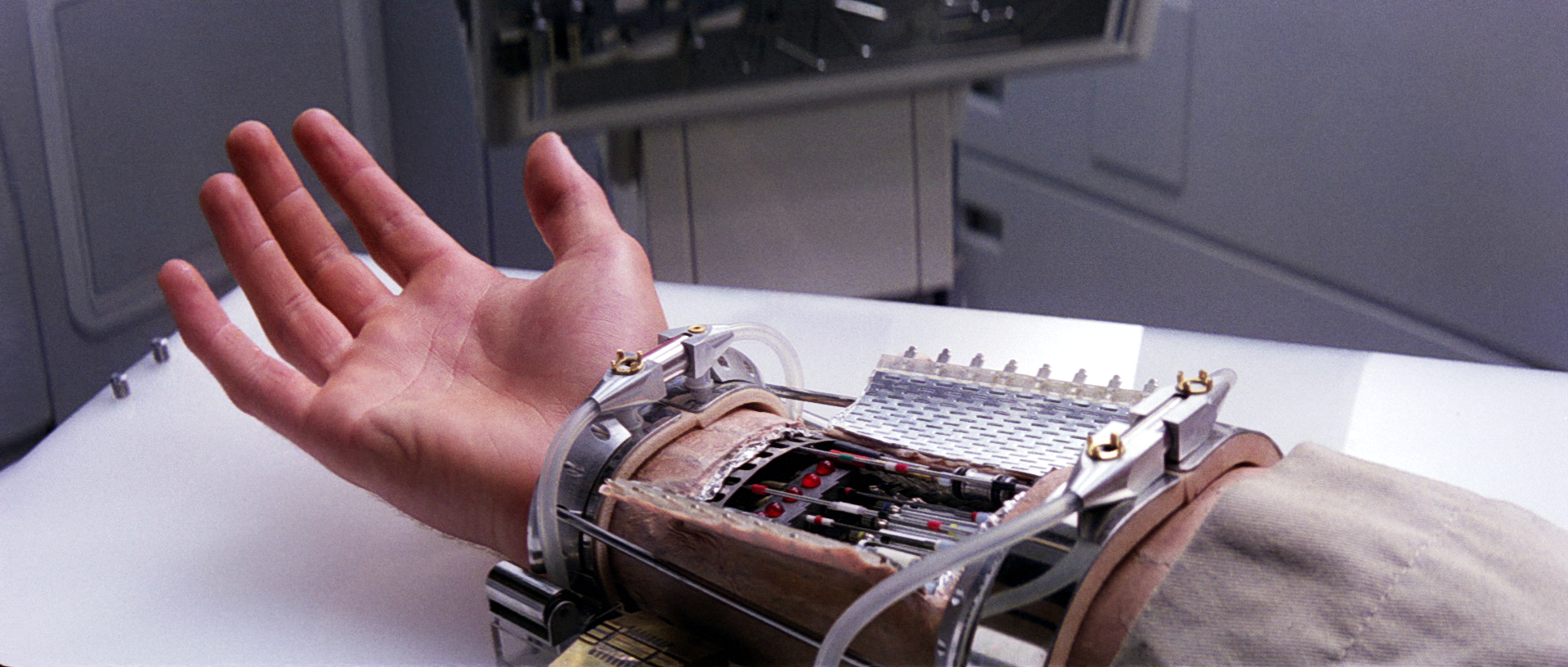 Luke Skywalker's robotic hand, from Star Wars.