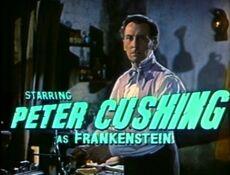 Peter Cushing as Frankenstein