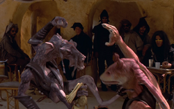 Sebulba bullying Binks