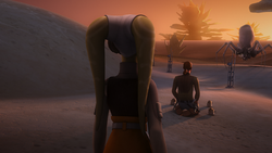 Hera finds Kanan meditating