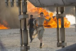 Finn and Rey boarding