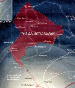 Ausdehnung Galaktisches Imperium 40 NSY
