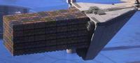 Imperial cargo ship docked