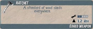 Hatchet Infocard