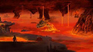 Terraria cardArt The Underworld
