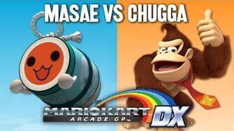 MasaeAnela VS Chuggaaconroy - Mario Kart Arcade GP DX