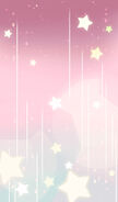 Magical Pink Stars Background