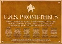 U.S.S. Prometheus Dedication Plaque