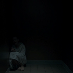 Eleven trapped in a room at Hawkins Lab.