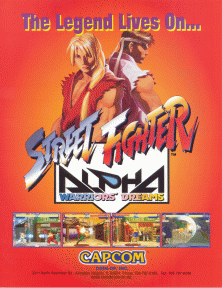 Street Fighter Alpha flyer