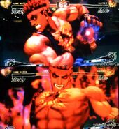 Evil Ryu in Action