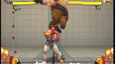 Street Fighter 4 Rufus - Snake Strike
