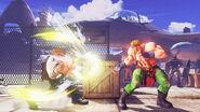 Guile in Street Fighter V versus Alex