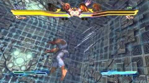 Raven's Super Art and Cross Assault in Street Fighter X Tekken