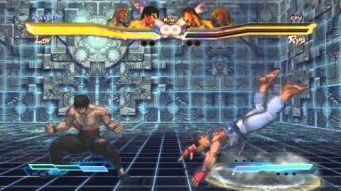Law performing his Super Art and Cross Art in Street Fighter X Tekken