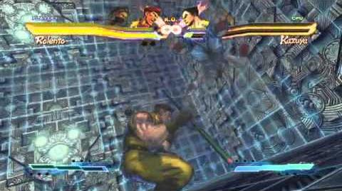 Ibuki's Super Art and Cross Assault in Street Fighter X Tekken