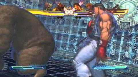 Heihachi's Super Art and Cross Assault in Street Fighter X Tekken