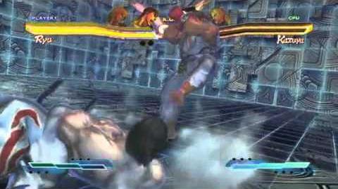 Ryu's Super Art and Cross Assault in Street Fighter X Tekken