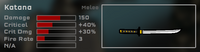 Katana Game Stats